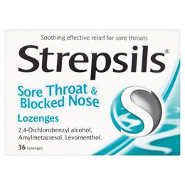 Strepsils Sore Throat and Blocked Nose Lozenges