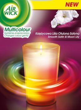 Air Wick® Świeczka Multicolor Księżycowa Lilia Otulona Satyną