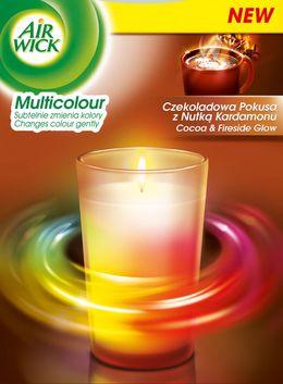 Air Wick® Świeczka Multicolor Czekoladowa Pokusa z Nutką Kardamonu